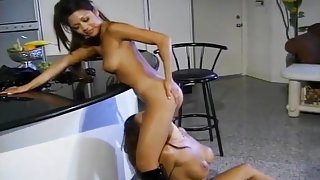 Sexy Ass Asian Girls Sweating In Kitchen