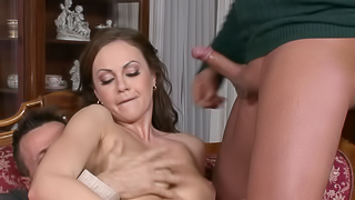 Absolutely gorgeous brunette bitch needs two big meat poles