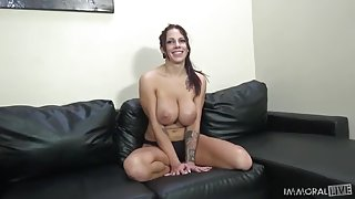 Brutal ebony man is banging the chick