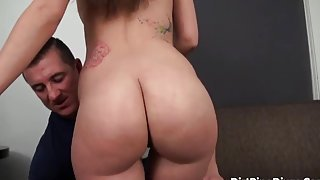 Godly dusky Gia Paige perfroming in amazing sex action ending with a huge cumshot
