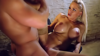 Passionate sex action by prisoners of dark dungeon