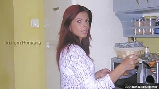 This hot and naughty Romanian woman is just the perfect housewife