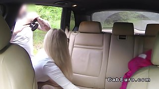 Fake taxi driver with huge cock bangs blonde pov