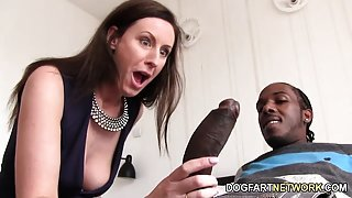 Lara Latex Quenches Her Hunger For Black Cock