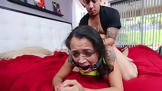 Rough sex treatment for a sweet looking Latina