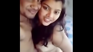 Bengali couple smooch and boob suck