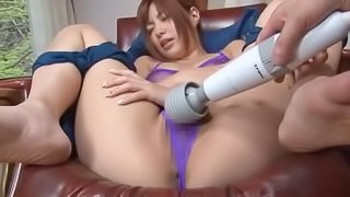 Hot Japanese Babe Kokomi Naruse Getting Toyed in Sexy Lingerie