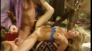 Blonde MILF gets drilled by a long haired young guy
