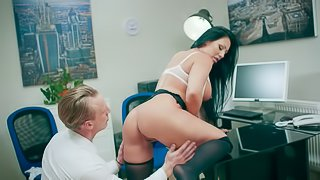 Candi Kayne is a gorgeous office worker in need of a stiff boner
