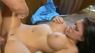 Spicy secretary is sucking a dick in the office