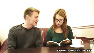 Brian & Iva Zan in Sex With Cumshot On Glasses - CasualTeenSex