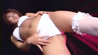Sexy AV Models In Stockings Show Their Pussies
