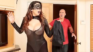 Lovely busty angel Missy Martinez screwed by a long white boner