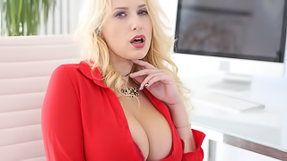 Sexy CEO Letting Off Steam - Fantastic Blonde MILF Angel Wicky