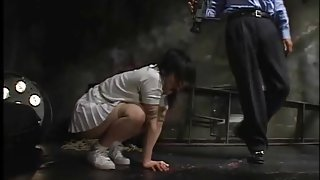 Japanese girl suffers painful spanking