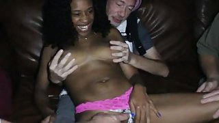 Beautiful Big Boob Black Teen Theater Gang Bang Gagger