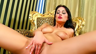 Pretty and beauty babe is having bang
