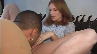 Teen couple spice up their sex life with strapon action