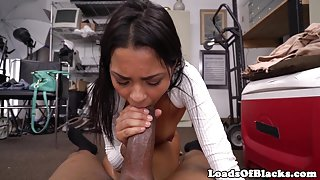 Petite casting babe takes bbc in tight pussy