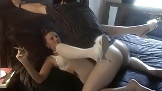 Crazy Amateur clip with Smoking, Stockings scenes