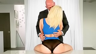 Sweet blonde is getting punished hard