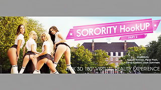 Sorority HookUP Part 2 - Young Babes VR Porn Group Sex