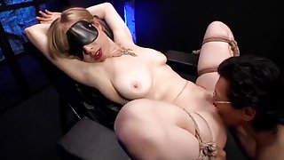 Blonde Lady Up In A Chair