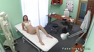 Doctor fucks his wild patient in fake hospital