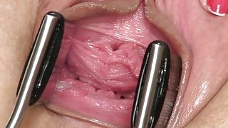 Open sweetie: gaping, gyno, real orgasm, toys