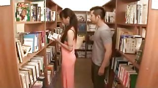 Seduce sexy dress teen in library