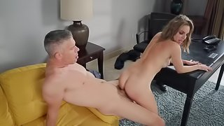 The lucky husband gets a lot of lovely blowjobs very often