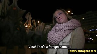 Pulled Czech beauty pussyfucked in a car POV