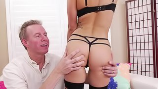 Marvelous doggy style pussy wasting with Kristen Scott and Mark Wood