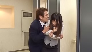 Japanese hotel girl sucks dick and gets face fucked