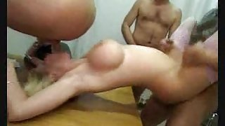 Pissing After A Hard Gangbang