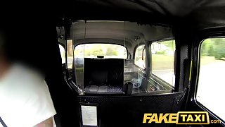 FakeTaxi: Lustful after interview and gagging for large schlong
