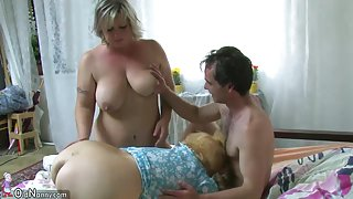 Old granny, Chubby granny, nice granny with horny guy