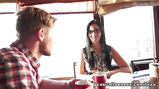 Edward & Alla in Hookup With Sex And A Facial - CasualTeenSex