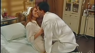 Sexy nurse Mandi Frost gets naughty with a doctor in a hospital ward