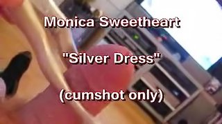 PREVIEW ONLY: Monica Sweetheart in a silver dress facial (cumshot only)