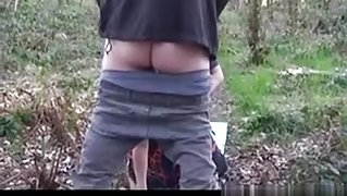 Gangbanging a breasty mother I'd like to fuck in the forest