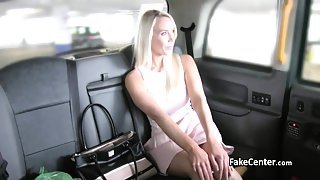 Taxi driver creampied blonde milf