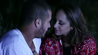 Remy LaCroix moans loudly while jumping on a cock in the garden