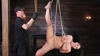 Super-hot pornstar Angela White takes part in first BDSM action