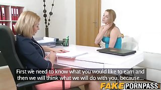 Naughty babe fingering casting agent