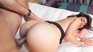 A hot curvy thing gets a big hard cock in her wet and meaty snatch