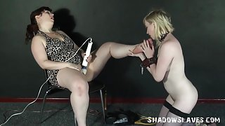 Golden-Haired Satine Spark in way-out lesbo humiliation and heartless