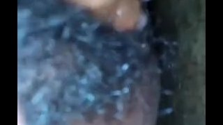 Sri Lankan masturbating in bath hairy pussy getting wet