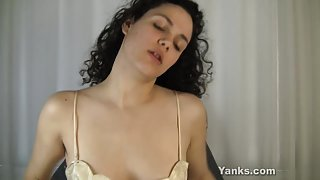 Curly Haired Zayda Vibrating Her Pussy