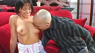 Slutty pornstar gets her pink pearl pounded by big dick